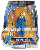 The Sixth Doctor Colin Baker in Blue Coat as seen in the BBC webcast Real Time
