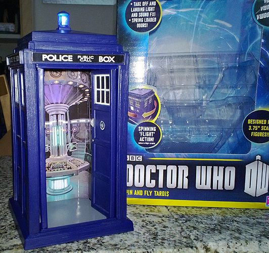 Spin and Fly Tardis