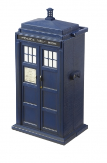 Micro Universe Tardis Collector Case exterior with carrying handle