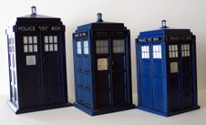 Tardis Cookie Jar, Flight Control Tardis and Tardis Money Box