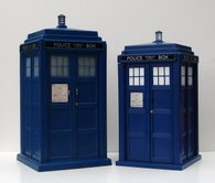 Flight Control Tardis and Tardis Money Bank Comparison