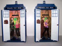 Interior of Tardis Money Box 9th Doctor & Rose version (2005) and 10th Doctor Tardis Money Box interior (2006)