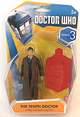3.75 Inch Tenth Doctor in Blue Suit and Long Coat Figure