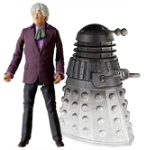 Third Doctor with Anti-Reflecting Light Wave Dalek