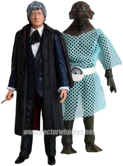 The Third Doctor Jon Pertwee & Sea Devil Forbidden Planet 2009 Exclusive
