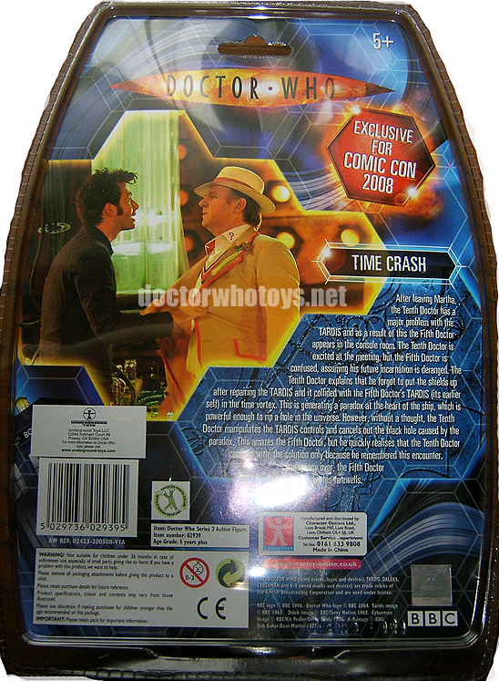 US SDCC Time Crash Set Cardback