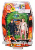 SDCC Time Crash Twin Pack - 10th Doctor in red shirt & 5th Doctor with Celery