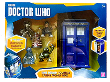 Time Squad Figures and 12th Doctor Tardis Money Box