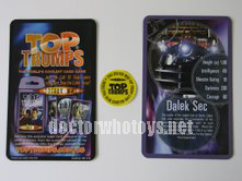 Top Trumps Insert and Sticker - Thanks Hoosier Whovian