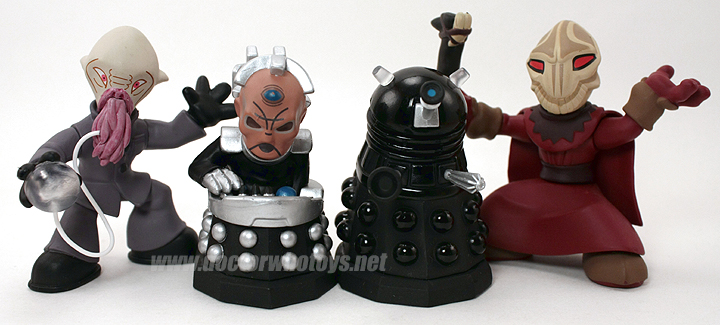 Time Squad 5 Pack Exclusives - Ood, Davros, Dalek Sec & Sycorax