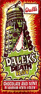 Classic Doctor Who Food Items - Walls 1970s Dalek Death Ray Lolly