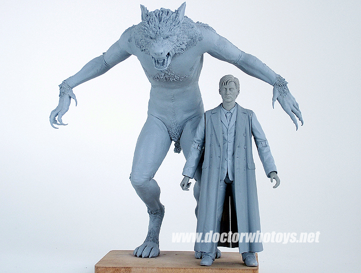 Werewolf & Doctor Original Sculpts - All images exclusively approved for use only on doctorwhotoys.net by Designworks, Character Options and BBC