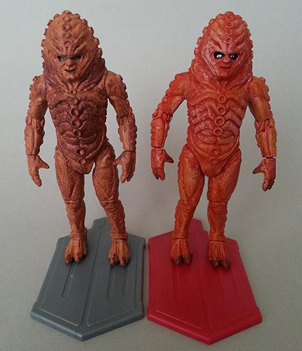 Zygon Comparison - Single Carded Vs The Day of the Doctor Set
